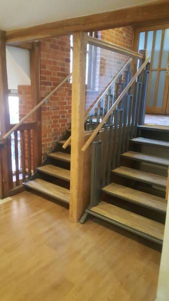 FlexStep and fixed staircase at Leeds Castle, Kent, UK