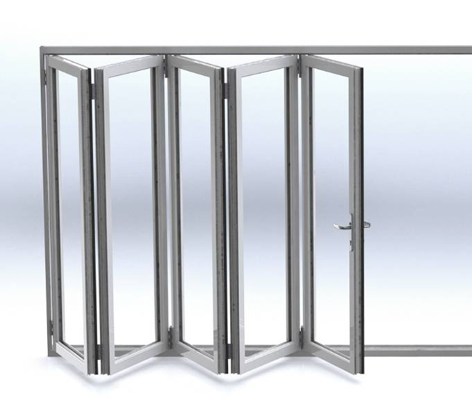 Kestrel Aluminium Systems rebate and sliding folding doors with polyamide thermal break