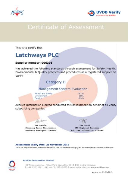 Achilles Verify Audit - Management System Evaluation