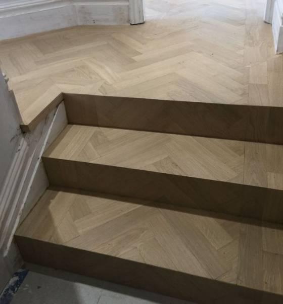 Oak Engineered Wood Flooring, Unfinished, Herringbone