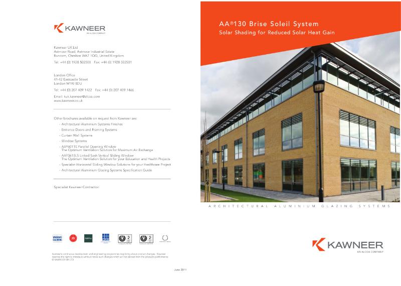 Kawneer AA®130 Brise Soleil System Brochure