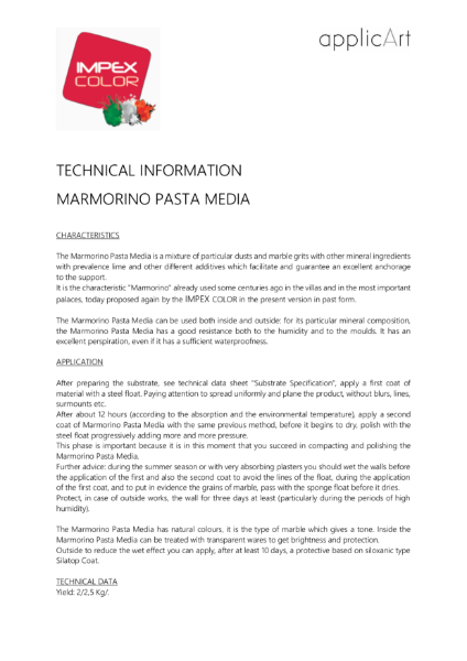 Polished Plaster - Marmorino Pasta Media
