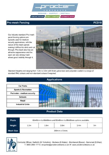 Pro-mesh Fencing