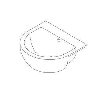 Semi-countertop mounted wash-basin