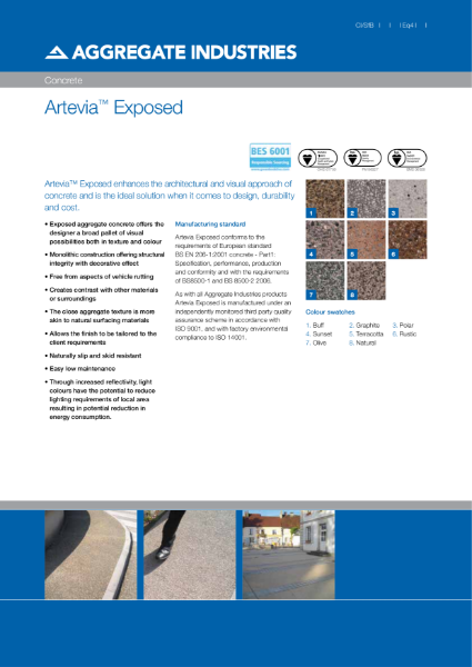 Artevia® Exposed concrete