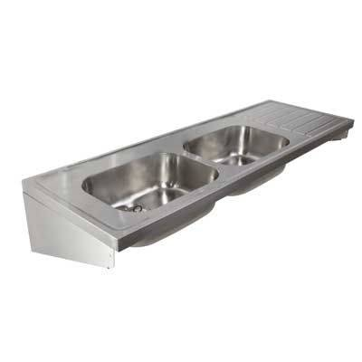 Stainless Steel Double Sink and Drainer ST C