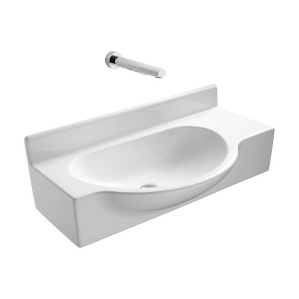 Airside 80 cm Wall Mounted Washbasin