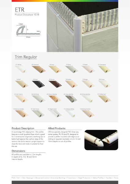ETR PVC Trim Datasheet