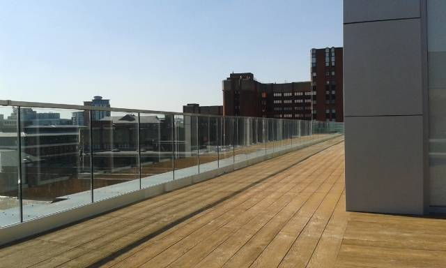 ASF Pro Channel Fixed Glass Balustrade