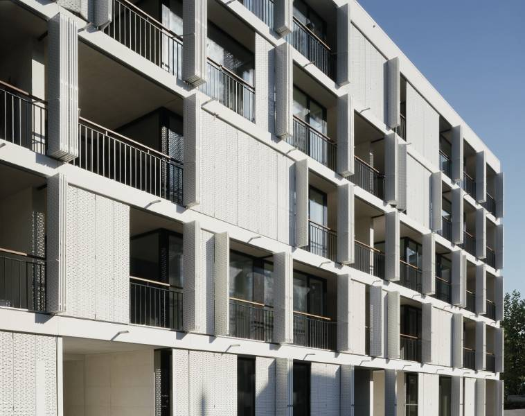 Economical housing replaces factory: Merker-Park, Baden, Switzerland