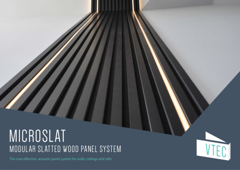MicroSlat - the cost-effective slatted wood system for walls and ceilings