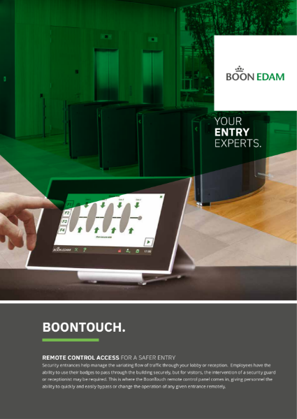 Boontouch - remote control access for safer entry