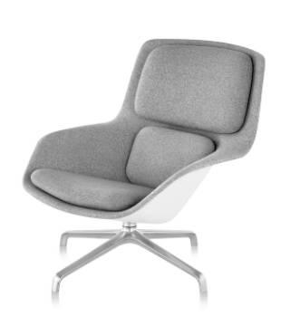 Striad Lounge Chair - Mid-Back - 4-Star Base