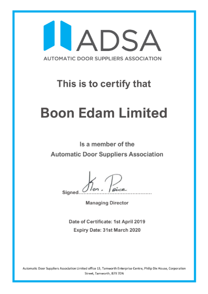 ADSA Membership Certificate
