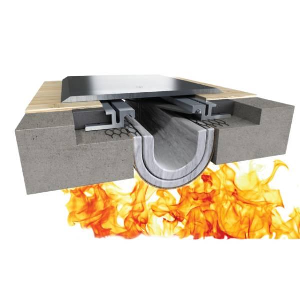Fireline™ 520 Fire Blanket Expansion Joint System - Bottom Mount, Floor to Floor