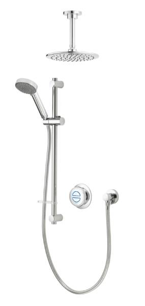 Quartz Classic Smart divert concealed adjustable with ceiling fixed head - HP
