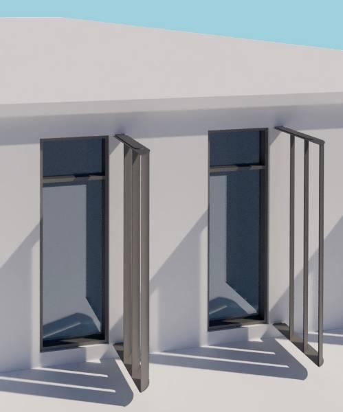 Shadex 260 Vertical Solar Shading System