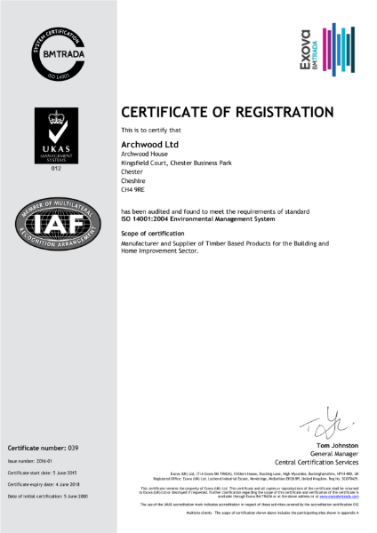 ISO 14001:2004 Certificate