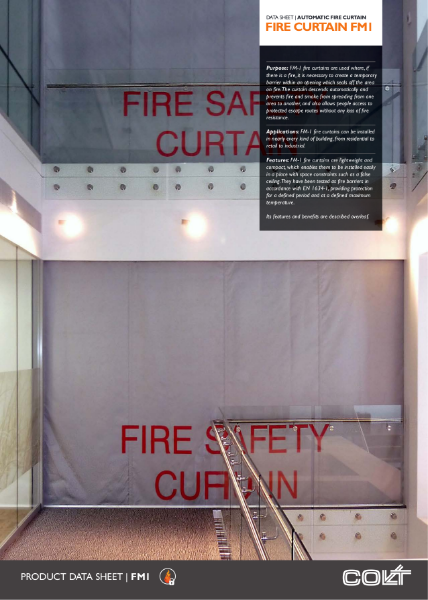 FM1 fire curtain