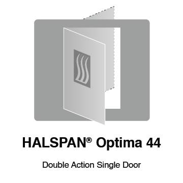 HALSPAN® Optima 44 mm Internal Fire Rated Door Blank - Double Acting Single Doors
