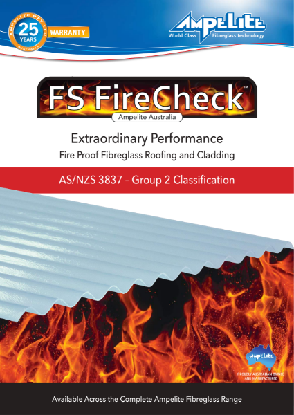 FS FireCheck - fire proof fibreglass roofing and cladding