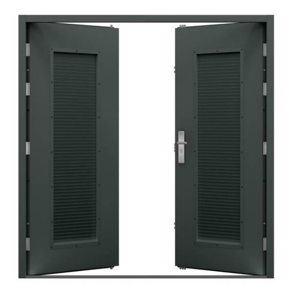 Double Louvred Steel Door (Security)