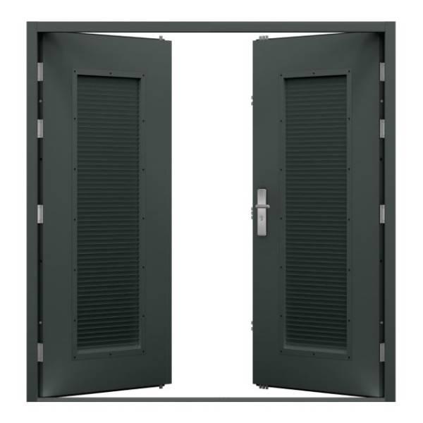 Double Louvred Steel Door (Security)