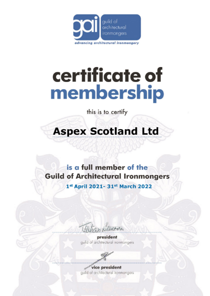Guild of Architectural Ironmongers - Scotland
