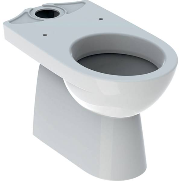 Selnova floor-standing WC for close-coupled exposed cistern, washdown, vertical outlet, semi-shrouded