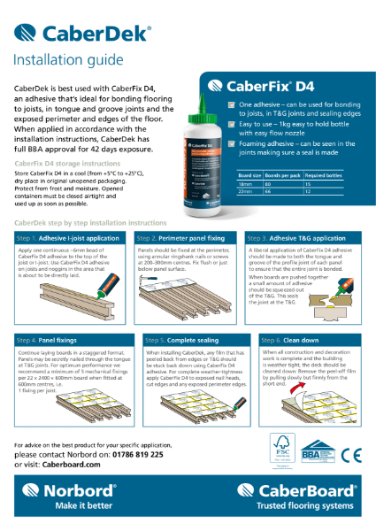 CaberDek Installation guide