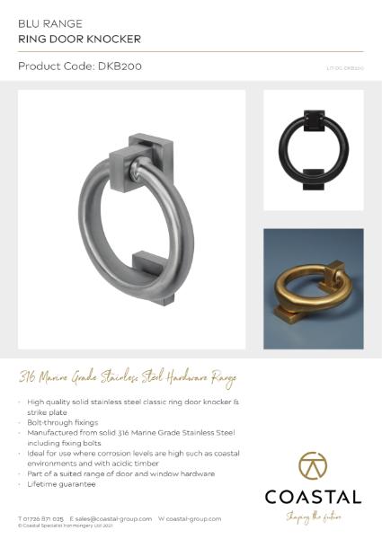 BLU™ - DKB200 Ring Door Knocker Data Card