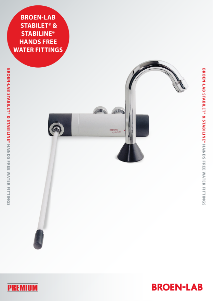BROEN-LAB  STABILET® & STABILINE® HANDS FREE WATER FITTINGS