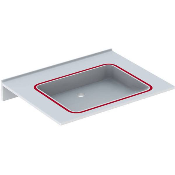 Publica washbasin, square design, barrier-free, dementia-sensitive
