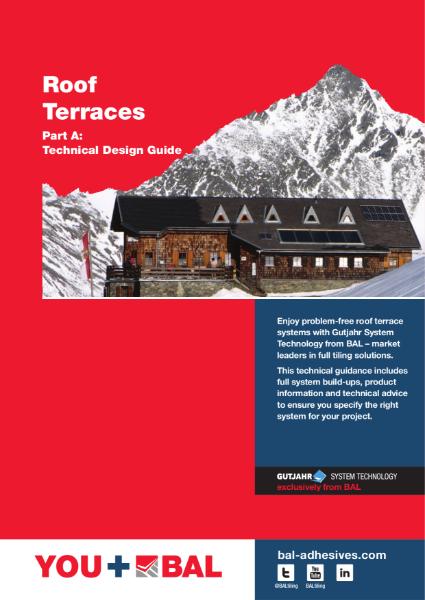 BAL External Tiling Solutions - Roof Terraces Technical Design Guide