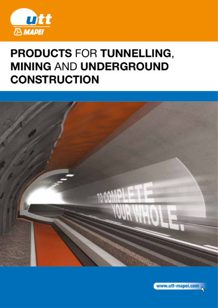 Products for Tunnelling, Mining and Underground Construction