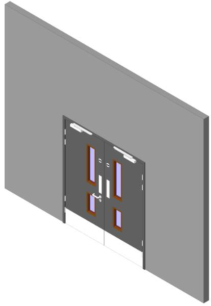 Education Range: Stairwell Doorset Double