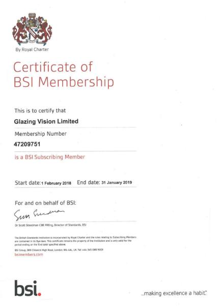 BSI Certificate of Membership
