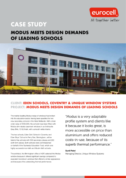 Modus Meets Design Demands Of Leading Schools