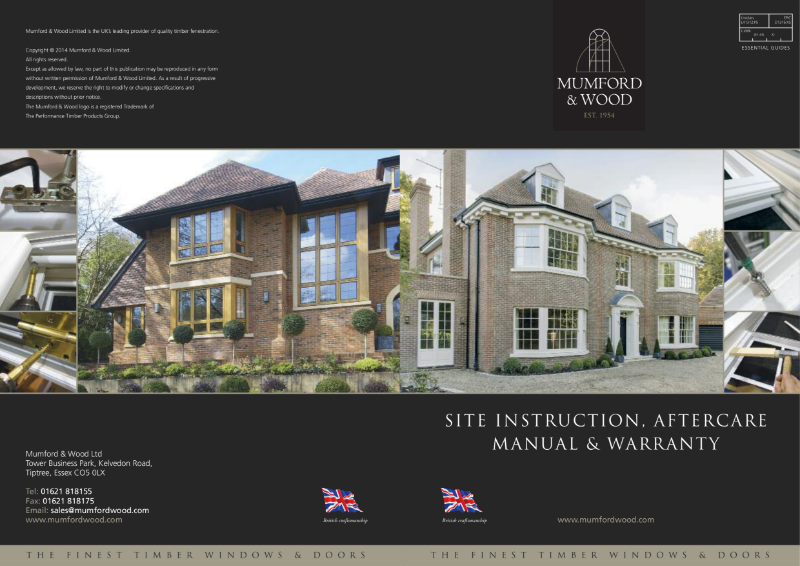 Site instruction, aftercare manual & warranty