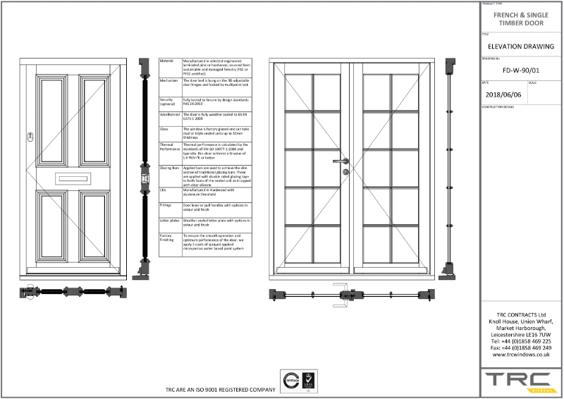 Traditional Single and French Doors