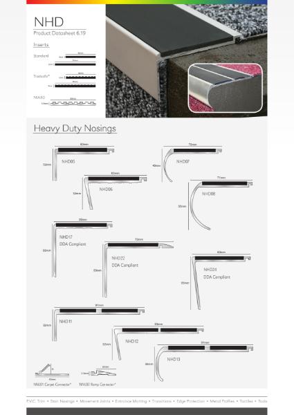 Aluminium Heavy Duty Stair Nosings (NHD)