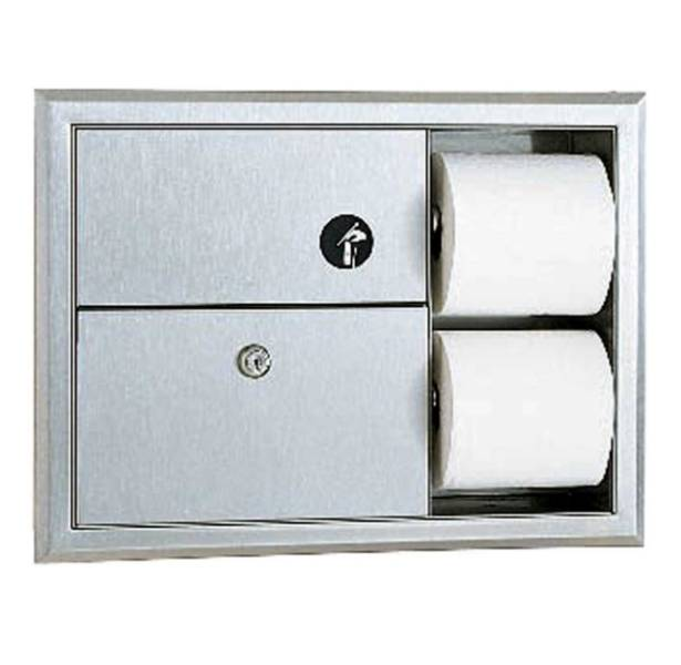 Toilet Tissue Dispenser and Sanitary Napkin Disposal Unit B-3094