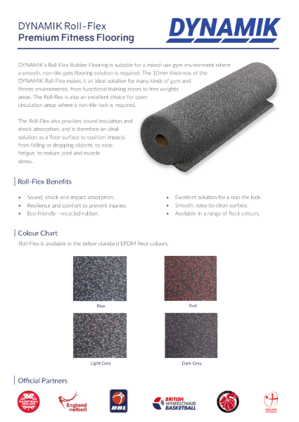 Roll-Flex - Premium Fitness Rubber Flooring