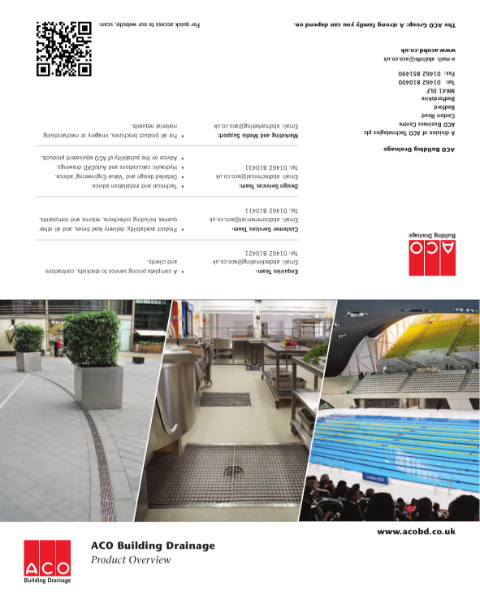 ACO Building Drainage Overview Brochure