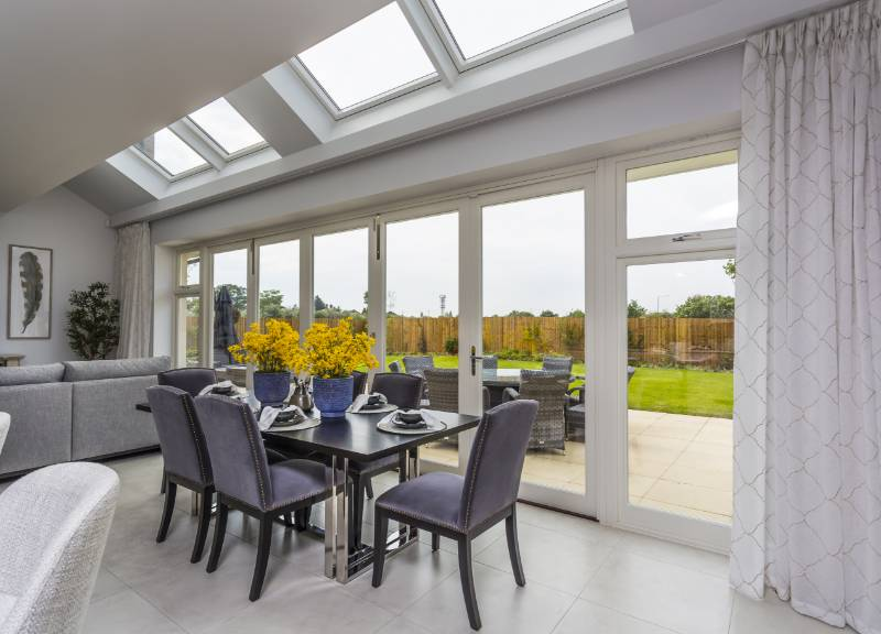 Flush timber casement windows and doors for Essex new build