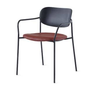 Portrait Chair – with Arms – Upholstered Seat – Wood Back