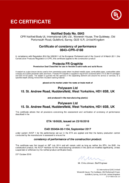 Protecta FR Graphite - EC Certificate
