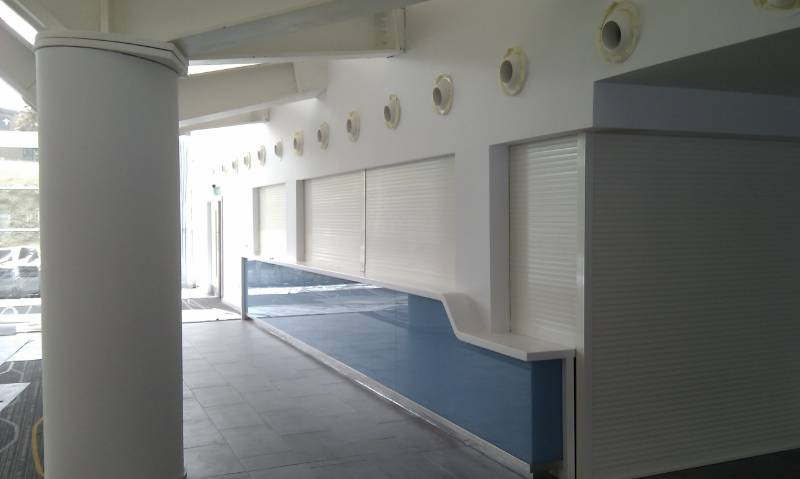 Serving Hatch Made Secure with SeceuroShield 38 Roller Shutter