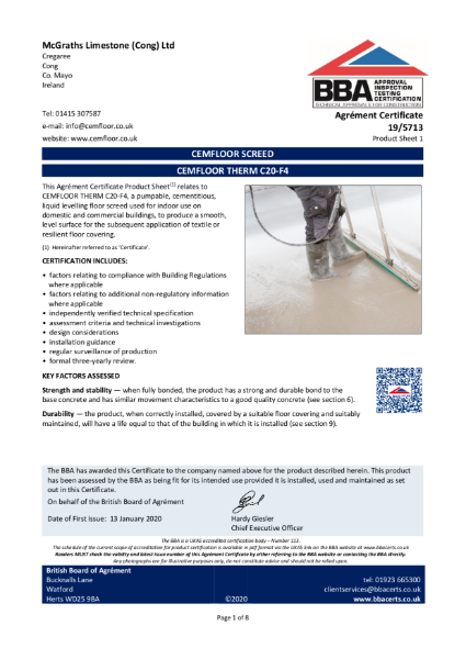 19/5713_1 CEMFLOOR SCREED