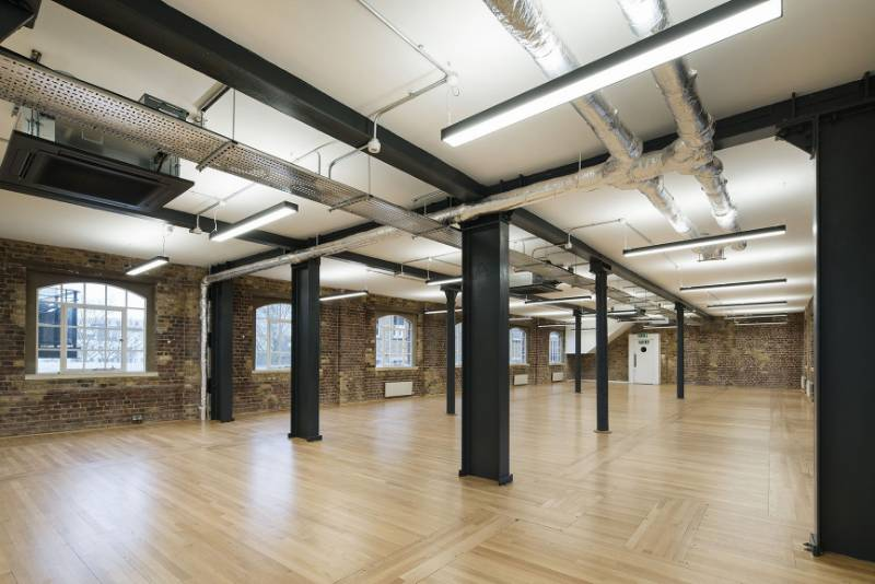 Lighting for industrial Style CAT A Fitout. Little London, London.